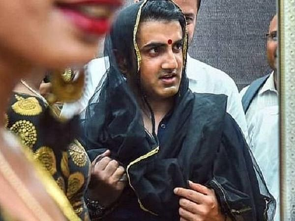 Cricketer - Gautam Gambhir - transgender - saree