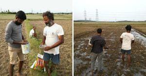 Dr Hari in his farm.