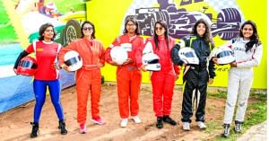 2 girls from Bengaluru are part of the squad of 6 all-women racers from India. Image Credit: JK Tyre Motorsport