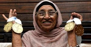 A true athlete, the 'Miracle from Chandigarh' Mann Kaur, the 'Miracle from Chandigarh' started training at the age of 93! Image Credit: Indian Eagle