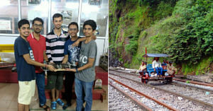 Left: The IIT Team behind Artemis (Source: COI IIT-M) Right: Representational image of men working on the tracks.
