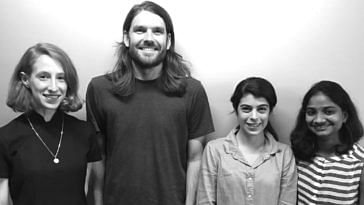 From Left to Right: Gina Ciancone, Daniel Cusworth, Alex Robinson and Ramya Pinnamaneni. (Source: Daniel Cusworth)
