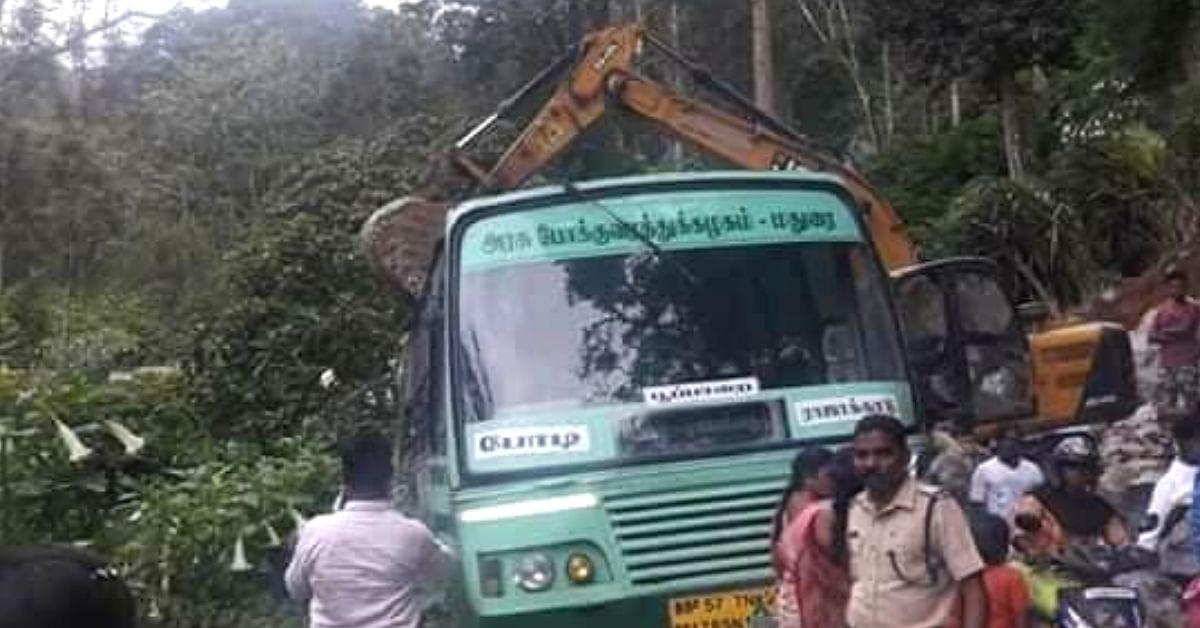 Kerala JCB Driver Turns Hero, Saves 80+ Passengers of TN Bus That Fell Into Ravine!
