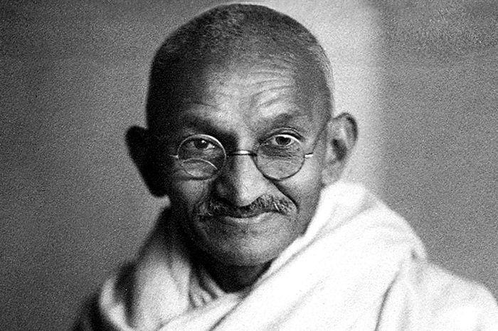 Baloo was drawn to Mahatma Gandhi's philosophy later on his life. (Source: Wikimedia Commons)