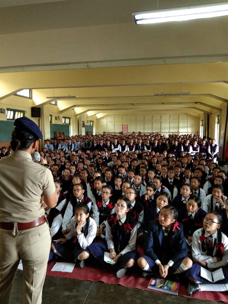 IG Sonia Singh addressing students. (Source: IG Sonia Singh)
