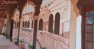 The beautiful artwork of the Farrukhnagar station, Gurugram. Image Credit: Northern Railway