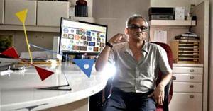 The creator of the iconic Doordarshan logo, Devashish Bhattacharyya. Image Credit:- Bhupatrai Sutaria