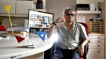 The creator of the iconic Doordarshan logo, Devashish Bhattacharyya. Image Credit:- Bhupatrai Sutaria‎