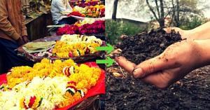 This Innovation By Ahmedabad Engg Grads Turns Temple Flowers Into Organic Manure!