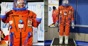 This is the suit that ISRO plans to use for Gaganyaan. Image credit: Biplab Haldar and Sayan Basu