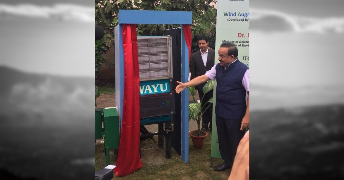 Dr. Harsh Vardhan inaugurates device to tackle pollution at high traffic zones.