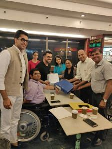 Nipun Malhotra, CEO, Nipman Foundation, lawyer - Jai Dehadrai along with Dr. Alim Chandani, AVP, Centum Foundation and The National Association of the Deaf who have decided to come on board as co-petitioners in the PIL slated for hearing in December. (Source: Nipamn Foundation)