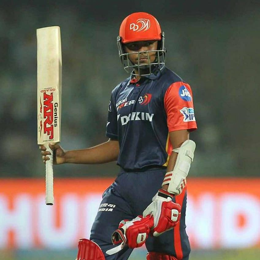 Playing for Delhi Daredevils in the IPL. (Source: Facebook/Prithvi Shaw)
