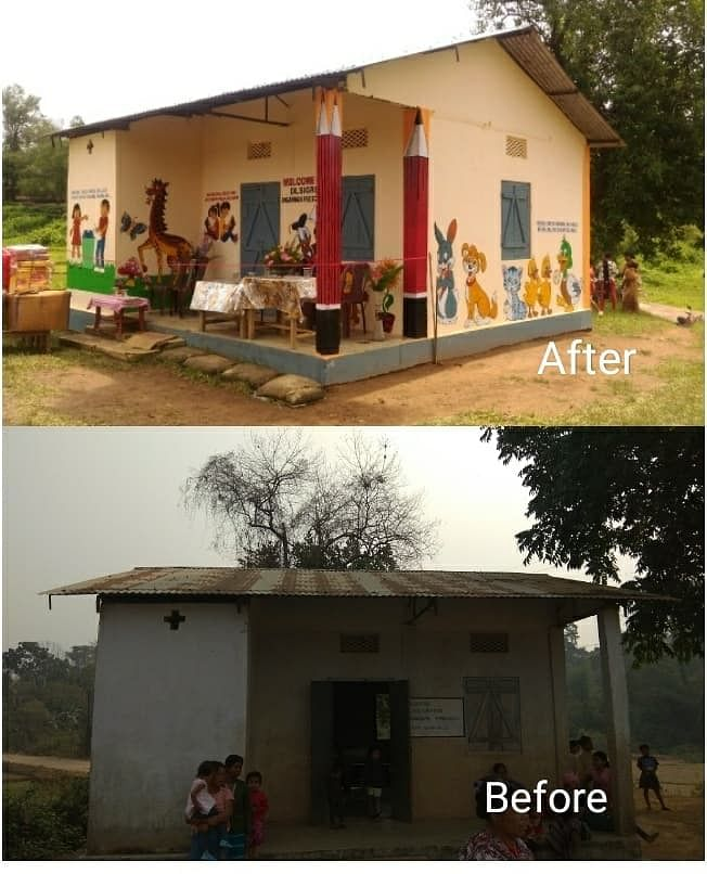 Dilsigre Anganwadi Centre (Before and After)