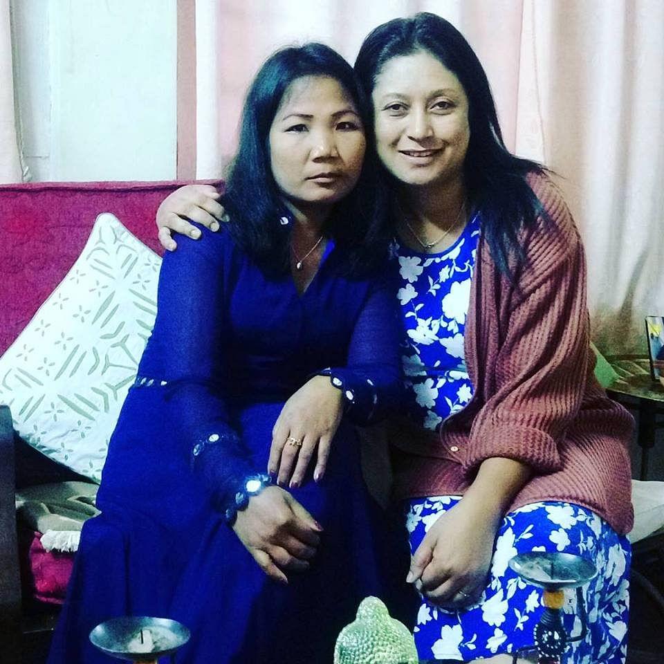 Ella Sangma with Hasina Kharbhih.