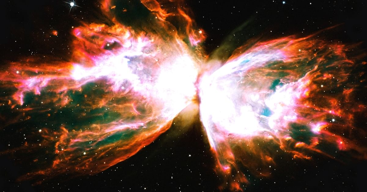 Indian scientists have discovered the ultraviolet wings of the butterfly nebula. Photo Source