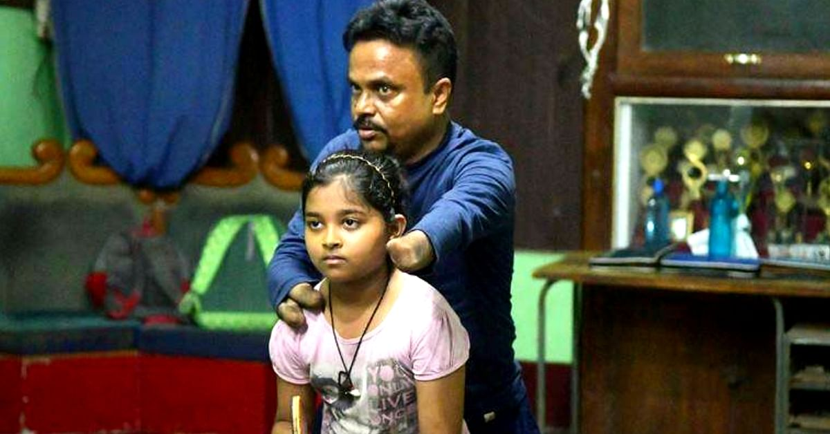 Kajal Dey, Tripura's only Table Tennis Coach without hands. Image Credit: Chathura Pamunuwa