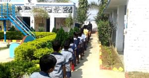 Students of the Gundlubari Primary School, in West Bengal. Image Credit: Gundlubari Primary School