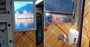 The brand new interiors of the Ranchi Rajdhani. Photo Source: DRM Ranchi