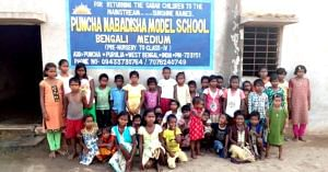 The students of the Puncha Nabadisha Model School, West Bengal. Image Credit: Pandui Manab Kallayan Samiti