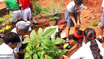 The students under the Karnataka Board of Education will have to plant the saplings when they are in Class 8. Representative Image Only. Image credit: Conservation Education Centre - ABWLS, Delhi