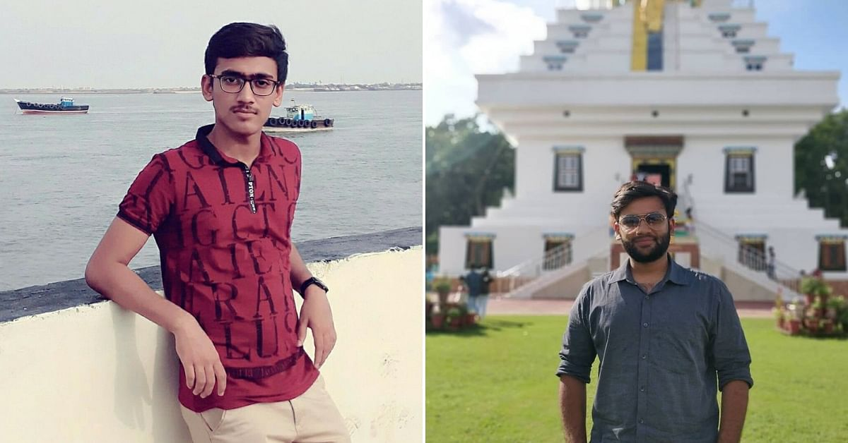 The two engineering students from UPES, who have created a sleep detector, to prevent road accidents. Image Credit: Jaldeep and Lakshya