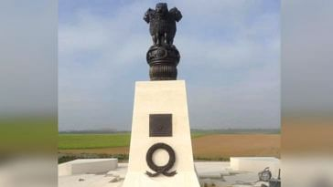 Villers-Guislain, a town in France, with an Indian Army war memorial. Image Credit Shantanu Rai