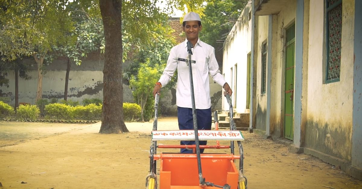 No Battery, No Electricity: 15-YO's Unique Garbage-Collection Cart Is Winning Awards!