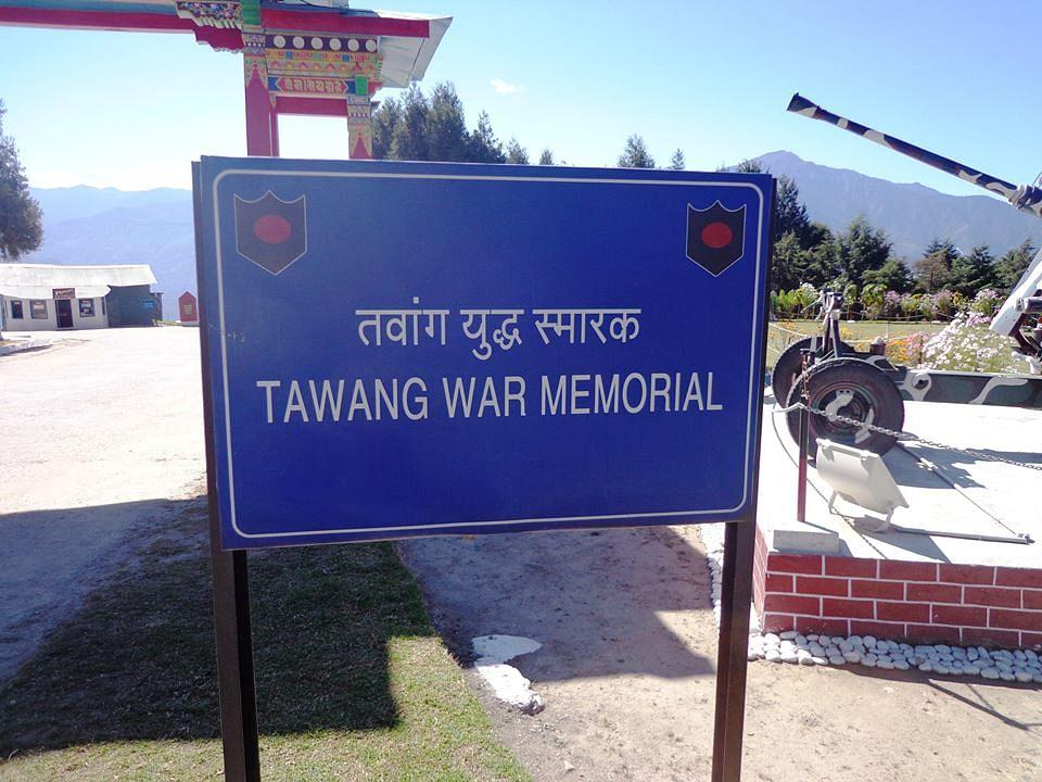 The 1962 War Memorial in Tawang, Arunachal Pradesh. (Source: Facebook)