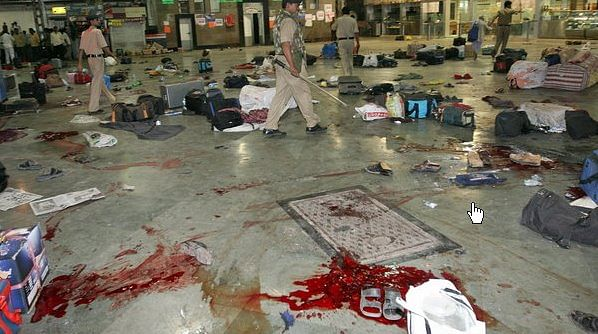 Horrors of 26/11: Bloody scene at CST after the terror attack. (Source: Facebook)