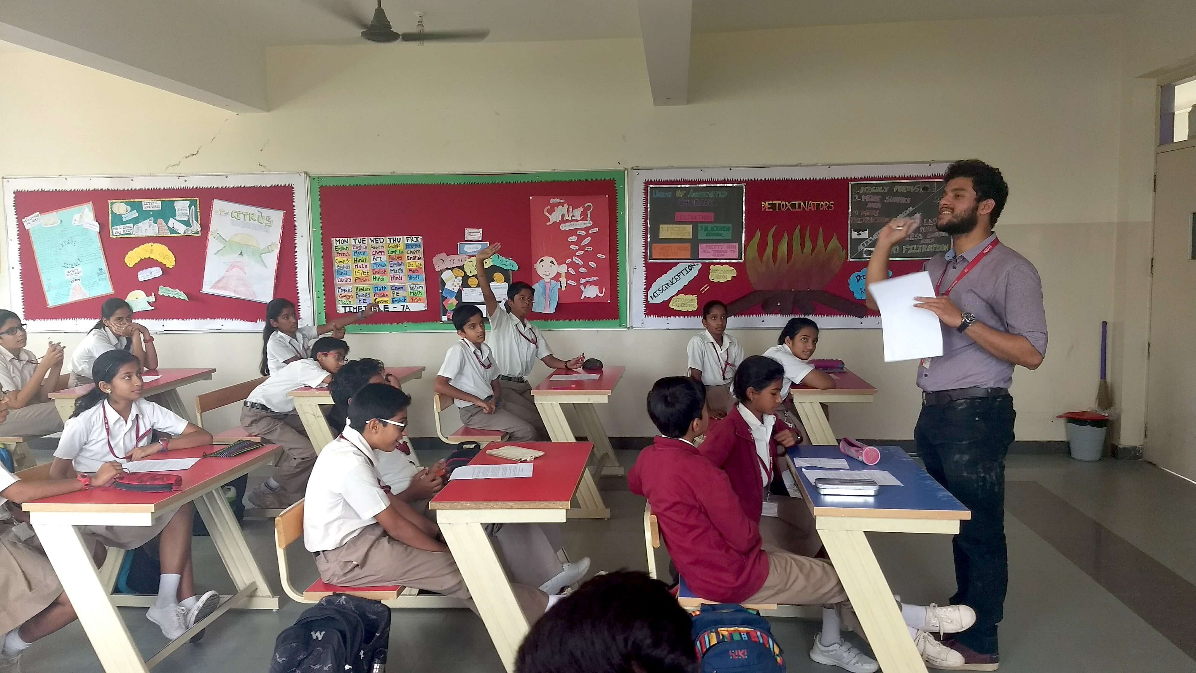Conducting a session with school students. (Source: Better Plus Education)