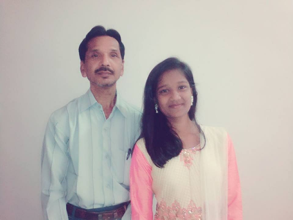 Devika Rotawan and her father Natwarlal. (Source: Facebook)