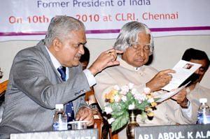 Dr KPC Gandhi with former President APJ Abdul Kalam.