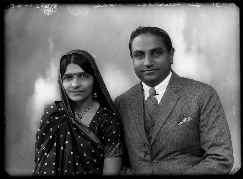 Hansa Jiva Mehta with her husband Jivraj Narayan Mehta, who went onto become Gujarat's first Chief Minister. (Source: National Portrait Gallery)
