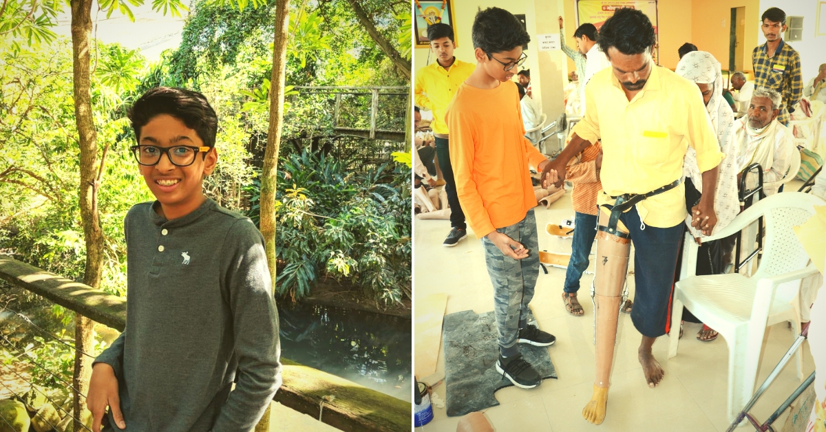 Real Hero: 14-Year-Old Veer Raised Rs 14 Lakh to Help 300 Amputees Walk Again!