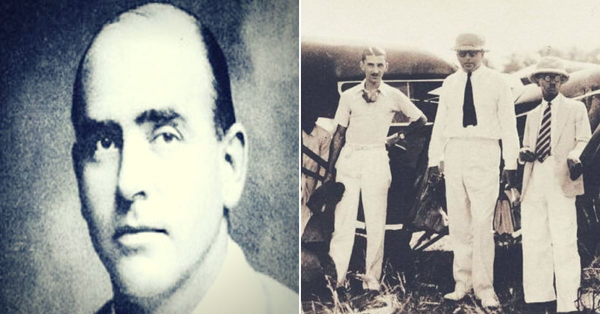 Nevill Vintcent profile (left). A young JRD Tata standing with Vintcent. (Source: Twitter)