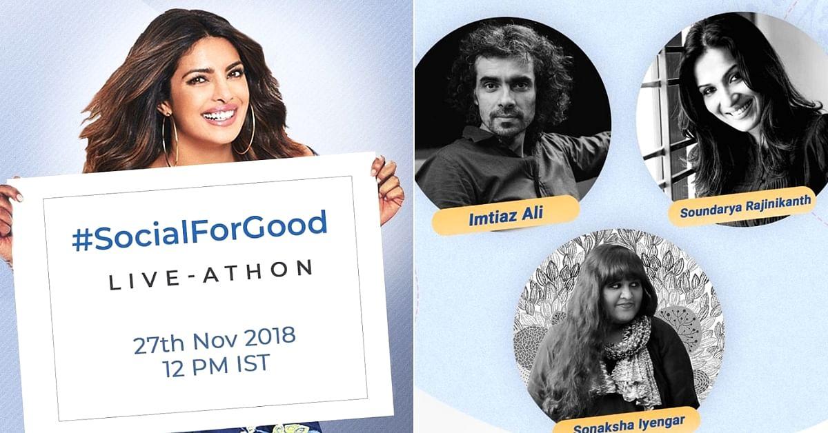 #SocialForGood: Join Priyanka Chopra, as We Bring Awareness to Causes That Matter
