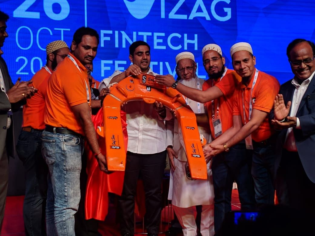 Andhra Pradesh IT Minister Nara Lokesh at the product launch of Saif Seas. (Source: Saif Automation)