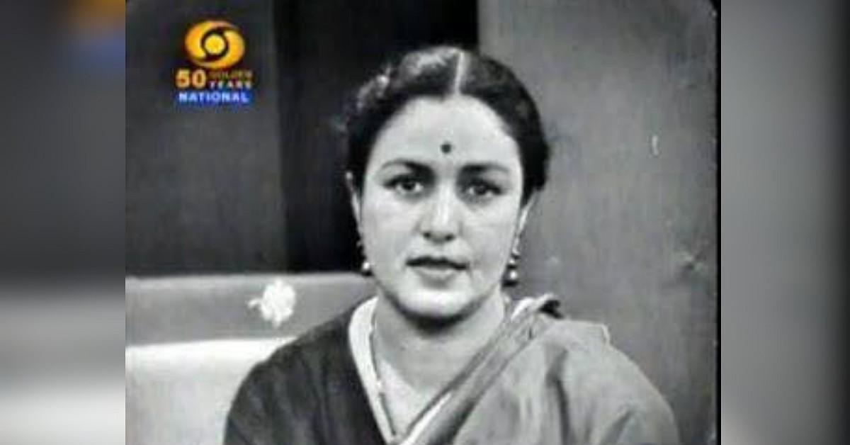 DD's Pratima Puri is India's 1st newsreader. Few Indians know her story. -