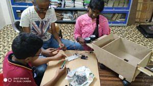Students working on the Pothole Warrior design. (Source: The Crossword School)