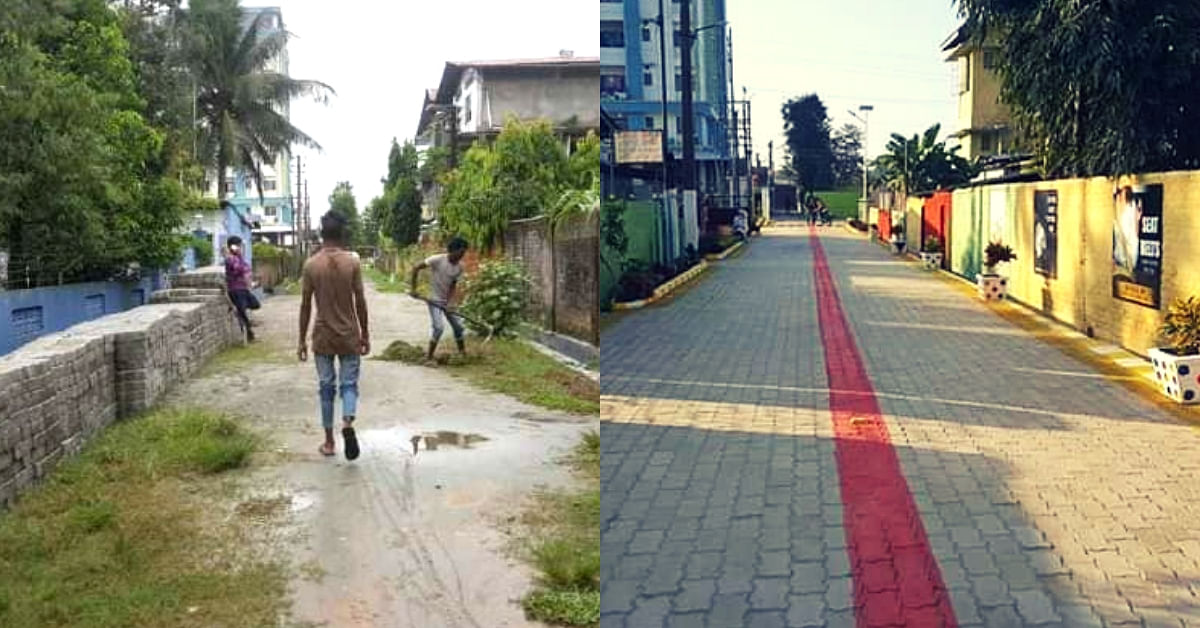 Assam Man Honours Late Dad's Memory, Spends Rs 13L To Turn Kaccha Road 'World Class'!