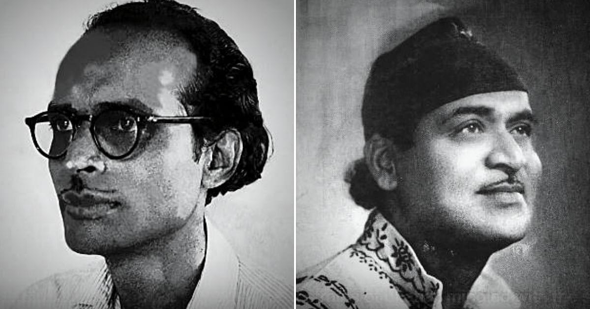 Hemango Biswas (L), Bhupen Hazarika (R). (Source: YouTube)