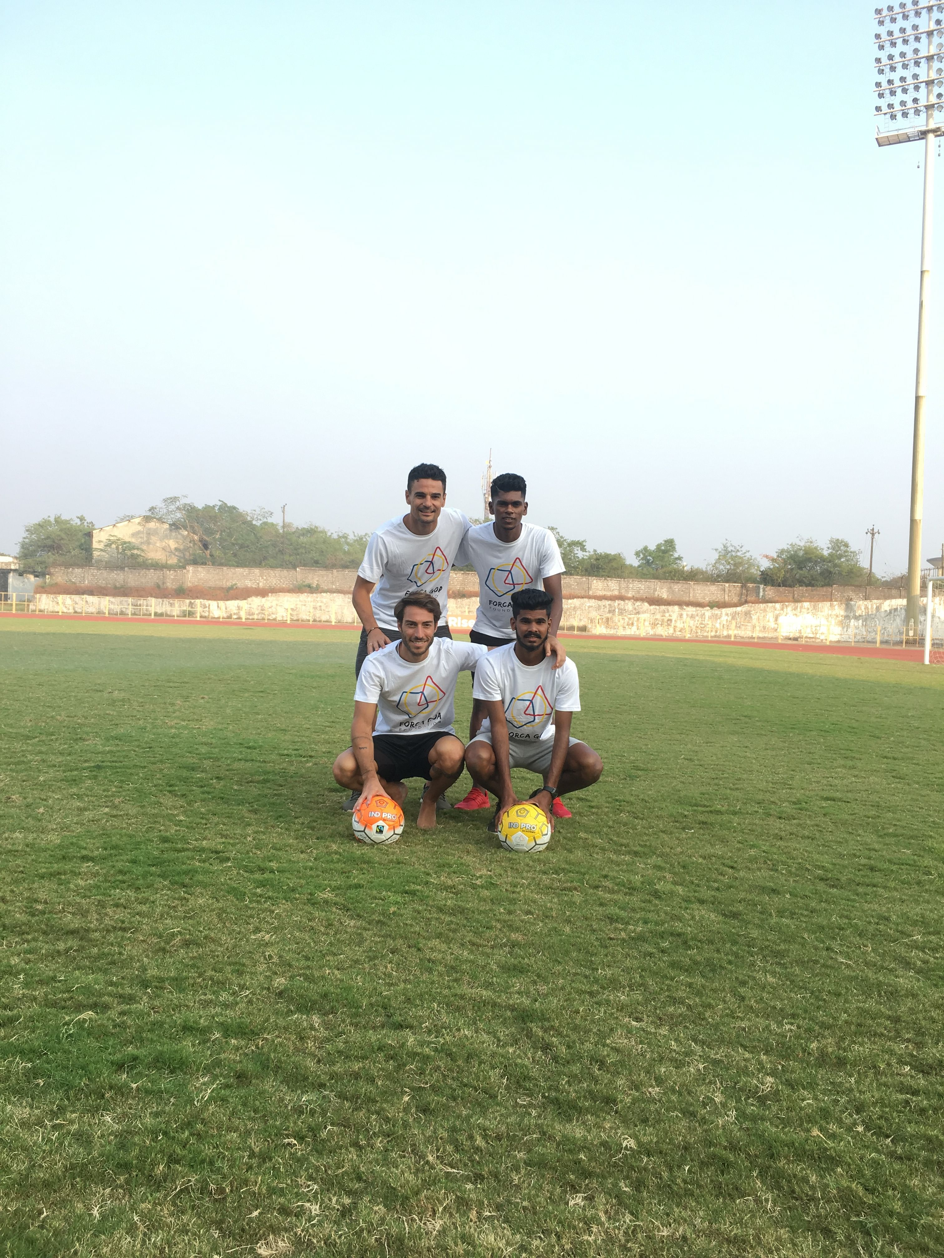 Carlos Pena, Miguel Palanca, Liston Colaco and Princeton Rebello of FC Goa showing their support for the cause!