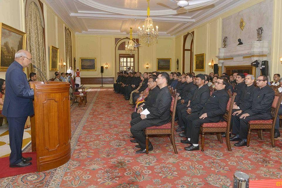 President Ram Nath Kovind addressing IAS officers. (Source: Facebook/IAS Officers)