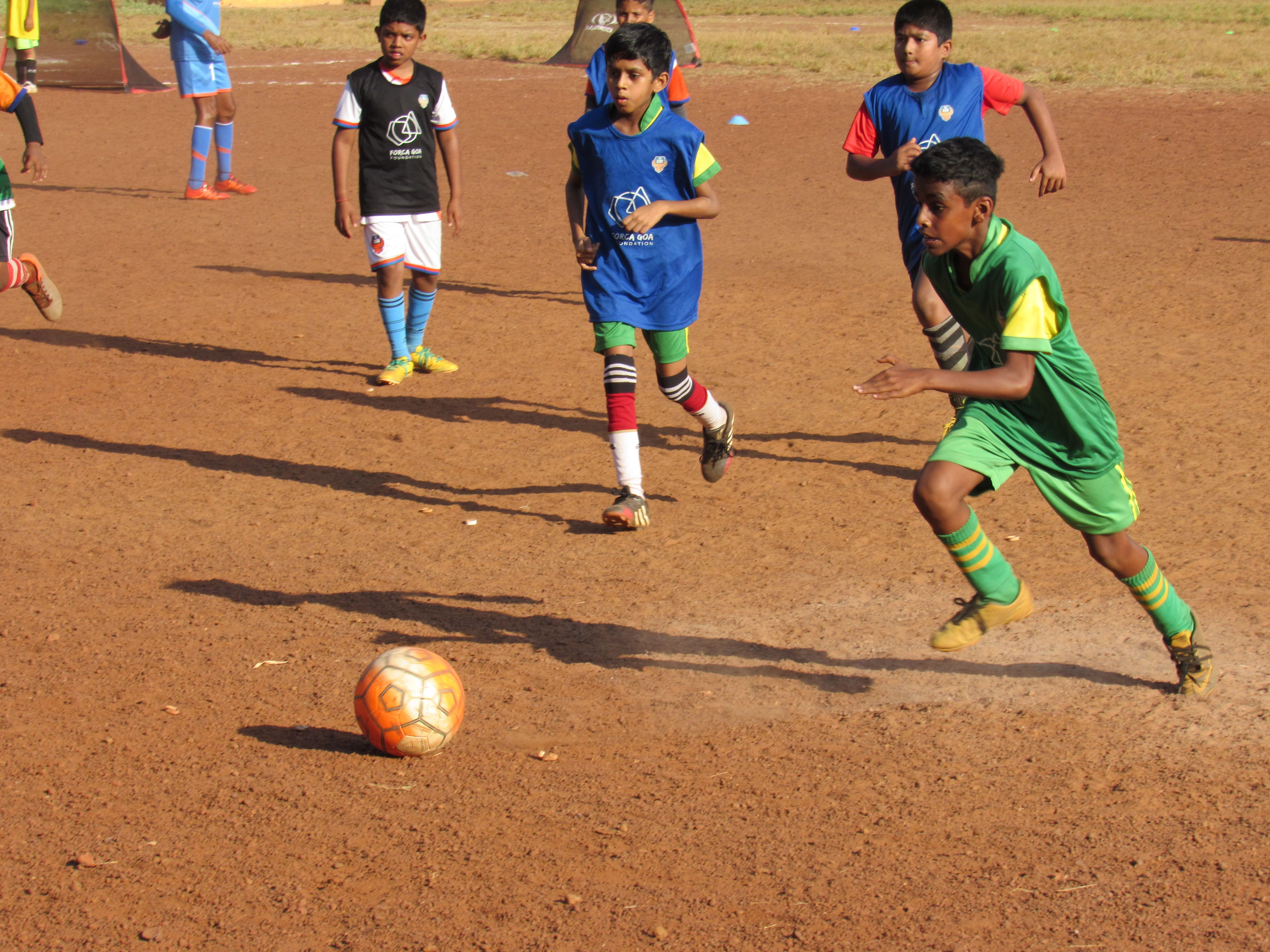 Thanks to this initiative, over 4,000 children in Goa will have enjoyed the experience of playing the beautiful game with these Fairtrade footballs this year.