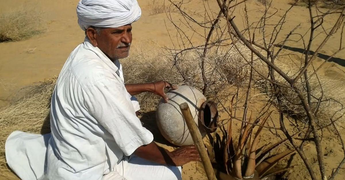 78-YO Bishnoi Man Turns Barren Dunes Green, Has Planted 27, 000 Trees in 50 Years!