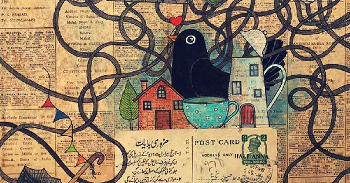 B'luru Artist Brings Alive Stories of Strangers On Vintage Love Letters & Bills. Check Out Pics!