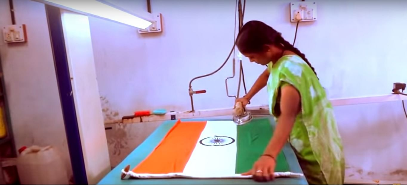 For representational purposes only. (Source: https://www.thebetterindia.com/44156/indian-flag-manufacturing/)