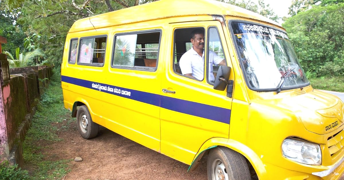 Karnataka Teacher Turns Driver to Keep School Running, Ensures Students Don't Drop Out!