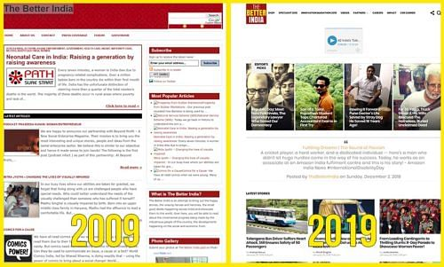 Even the site has come a long way. Check out TBI's #10yearchallenge